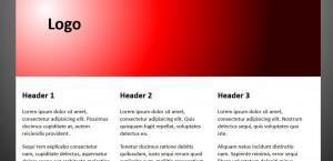 Сайт с радиальным градиентом