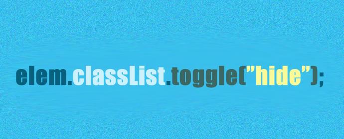 classList.toggle