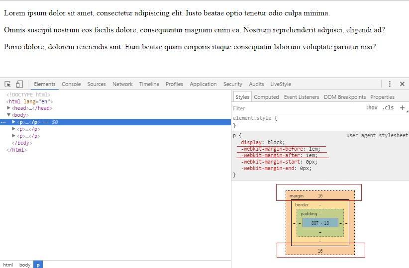 Абзацы в HTML