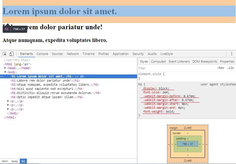 Заголовки в HTML