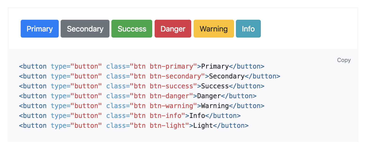цветные кнопки bootstrap