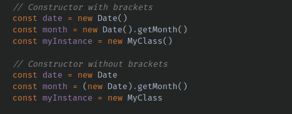 brackets for js constructor