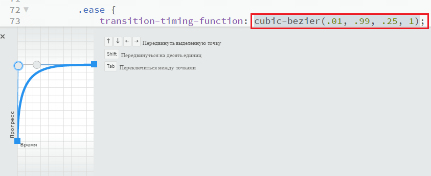 Управление маркерами графика функции в Brackets