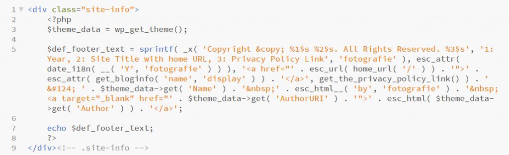 Код файла site-info.php