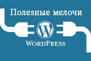 Полезные мелочи Wordpress