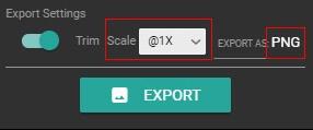 Настройки экспорта psdetch v2