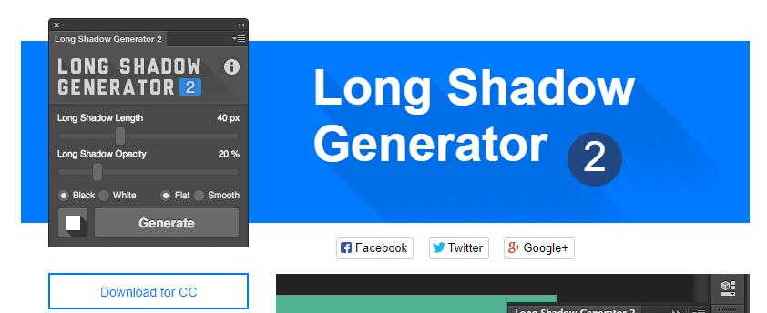 Плагин longshadow-generator