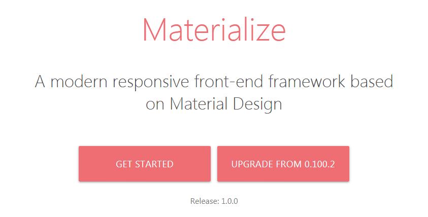 Materialize CSS-фреймворк