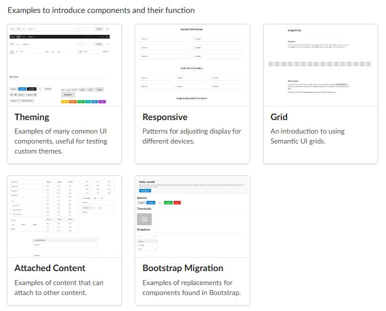 Semantic UI Layouts