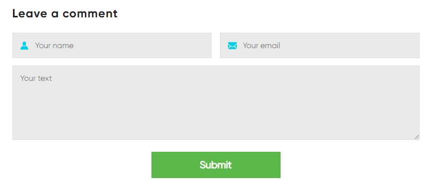 Wordpressформа для комментариев