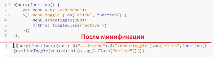 Минификация js-кода