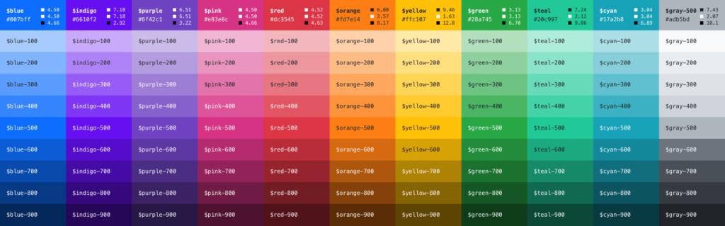 Цветовые темы для Bootstrap 5