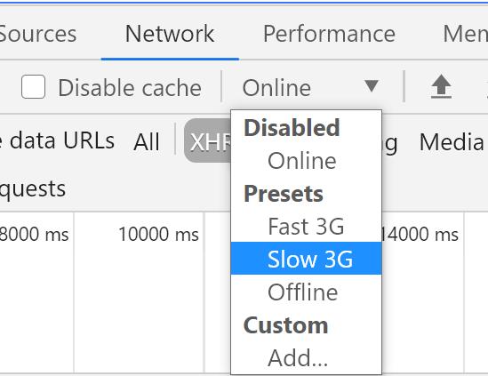 Медленный Интернет в настройках Chrome