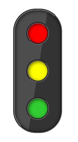 светофор на html и css